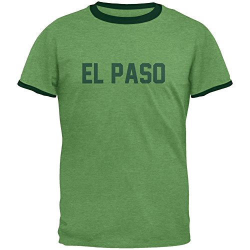 cities-vintage-el-paso-heather-green-forest-mens-ringer-t-shirt-small