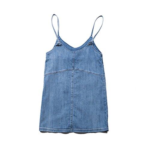 Jupe Mini Femmes Denim t Salopettes Bleu en Dooxi Clair Dcontracte Jean Salopette E4Z6xUqw