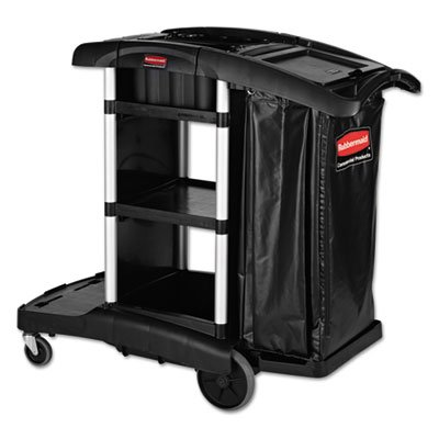 (Rubbermaid® Commercial Executive High Security Janitorial Cleaning Cart RCP 1861429)