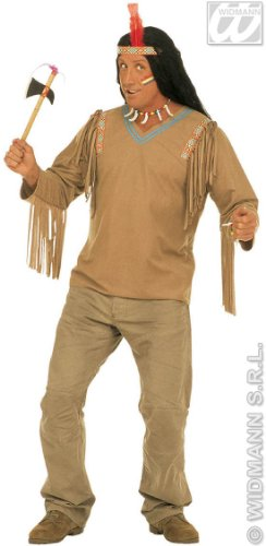 [XL Apache With Headband Costume Extra Large For Wild West Indian Fancy Dress] (Extra Head Costume)