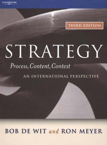 Strategy: Process, Content, Context--An International Perspective