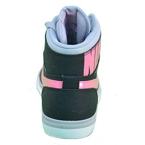 Nike - Nike Wmns Match Sprm Hi Txt Zapatos Deportivos Mujer Negro Alto Tejido 644588 - Negro, 36,5