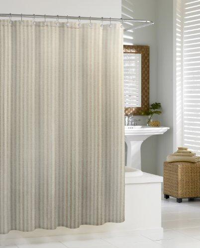 Kassatex CLN-115-FLA Cortina Linen Chevron Shower Curtain