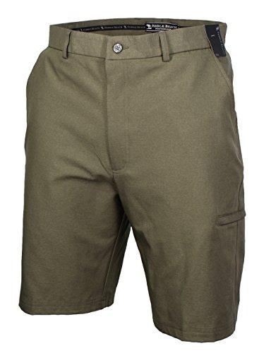 Pebble Beach Mens Performance Flat Front Golf Shorts (32, Green)