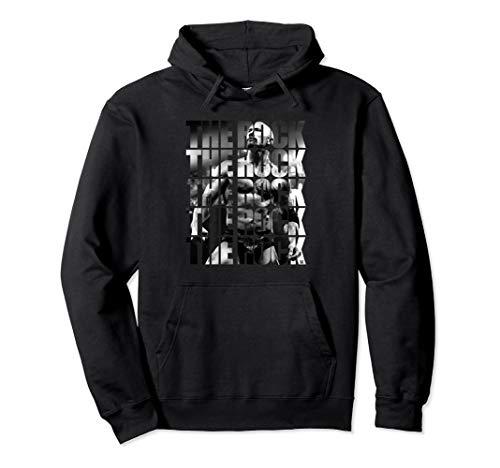 WWE Classic Dwayne Johnson The Rock Pullover Hoodie (Wwe Hooded Sweatshirt)