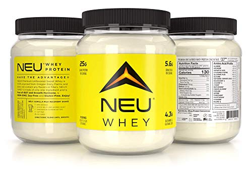 NEU Unflavored Whey Protein Powder (Pasture Raised) 25g protein per Serving – 1.25lb (18 Servings)