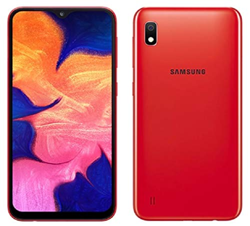"Samsung Galaxy A10 32GB A105G/DS LTE Unlocked GSM 6.2"" HD+ Smartphone - International Version, No Warranty (Red)"