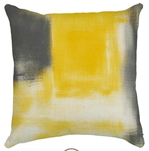Almohadillas W-Shufang Moderno Simple Amarillo y Gris Cojín ...