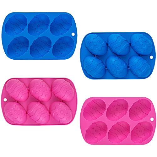 Rain Bingo 6 Cavity Easter Egg Silicone Cake Baking Mold Cake Pan Muffin Cups - Handmade Soap Moulds Biscuit Chocolate Ice Cube Tray DIY Mold