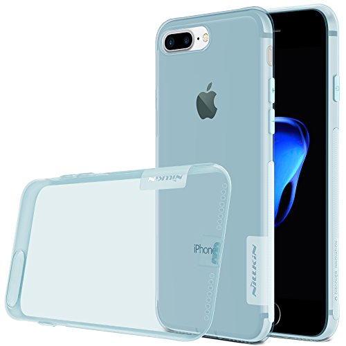 Meimeiwu Anti-Rutsch Tasche Slim Fit Transparent Thin Handyhülle Schutzhülle Weich Natur TPU Case Hülle für iPhone 7 Plus,Blau