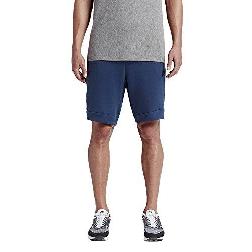 (NIKE Men's Sportswear Tech Fleece Shorts (805160-423) - Coastal Blue/Heather/Black (XX-Large) )