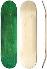 Skateboard Collective Blank Skateboard Deck, Random Top/Natural Bottom Self-Customizable Skateboard Deck, 7-Pl
