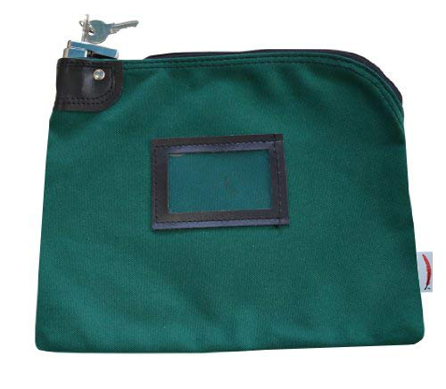 Locking Bank Bag Canvas Keyed Security (Forest Green) ()
