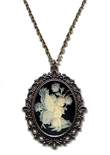 Victorian Vault Fairy Cameo Steampunk Gothic Pendant Necklace on ()