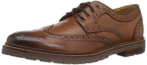 Florsheim Men's Estabrook Wingtip Lace Up Oxford Dress Casual Shoe, Cognac Tumble, 9.5 D US - Florsheim Casual Oxford