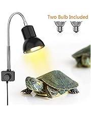 DADYPET Tortoise Heat Lamp, Heat Spotlight For Aquarium Reptile, Basking Spot With Holder UVA UVB With 360 ° Rotating Clip & Power Supply For Reptiles, Lizards, Turtle Snakes Aquarium 25W