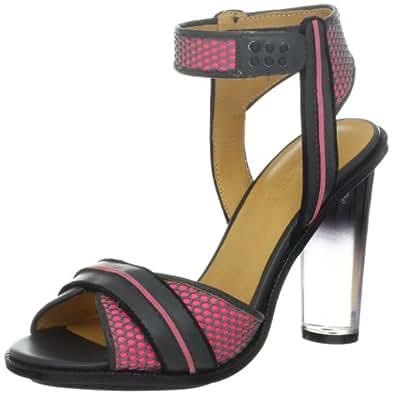 L.A.M.B. Women's Carter Sandal,Grey/Pink,5.5 M US