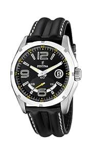 FESTINA F16481/5 - Reloj de caballero de cuarzo, correa de piel color negro
