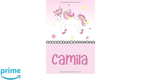 Camila: Unicornio Libreta de Notas: Cuaderno con 120 Páginas ...
