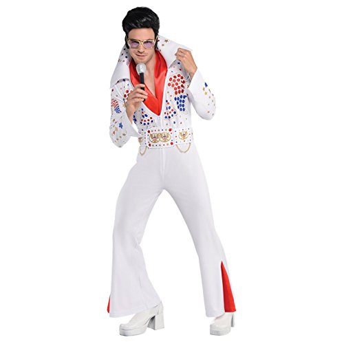 Amscan Adult King of Rock 'N' Roll Costume Plus Size XX-Large, -