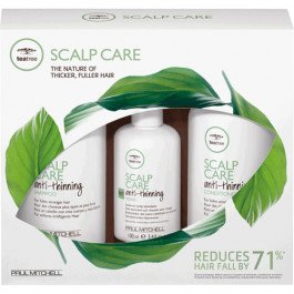 Paul Mitchell Tea Tree Anti-Thinning Scalp Care Trio Shampoo Conditioner 10.14oz Anti-Thinning Tonic 3.4oz (Tonic Leave)