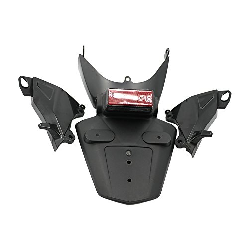 Alpha Rider Rear Fender Mudguard Taillight Spoiler and Exhaust Pipe Shield Rear Side Cover and License Light Assembly For Honda CBR600RR F5 2005 2006: