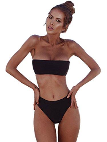 sexy fascia con Costume BanCTHEEau Italily da arricciato Triangolo Donne brasiliana o Bikini Donna Costume a slip Estate Bikini Spiaggia Bikini bagno Mare Black Push Up donna 6Xqx1HXwz