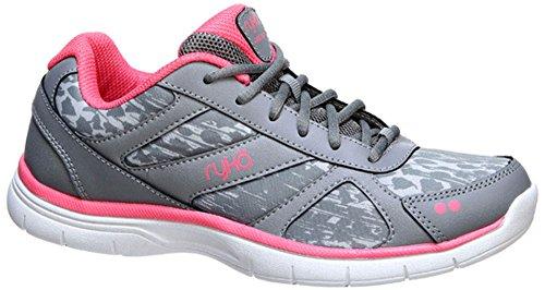 Ryka Women's Dream Training Shoe,Frost Grey/Summer Grey/Calypso Coral,US 8.5 M