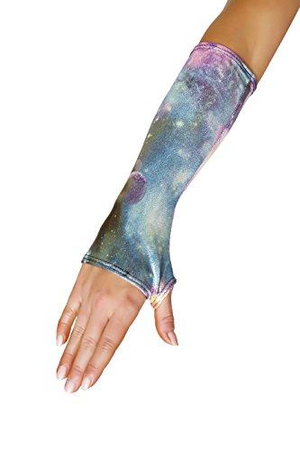 [J. Valentine Women's Galaxy Fingerless Gloves, Multi, One Size] (Sci Fi Halloween)
