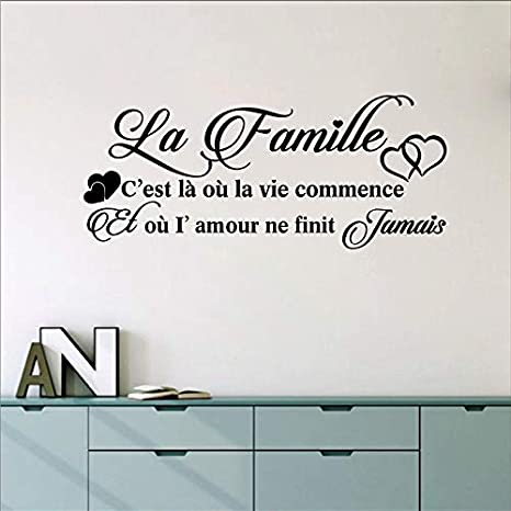 French La Famille Vinyl Mural Tatuajes de Pared Sticker Francia ...