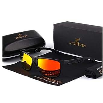 Gafas de sol polarizadas de moda clásica de alta calidad para el hombre Gafas de sol de moda polaroid polarizadas cristales de color azul gafas polarizadas polaroid baratas de moda buena calidad (Naranja)