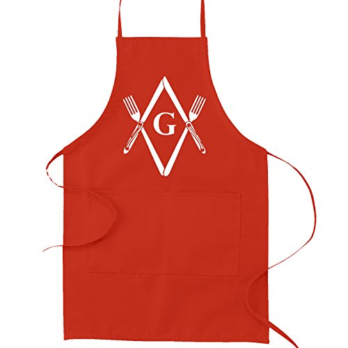 Square & Compass Knives & Forks Masonic Cooking Kitchen A...