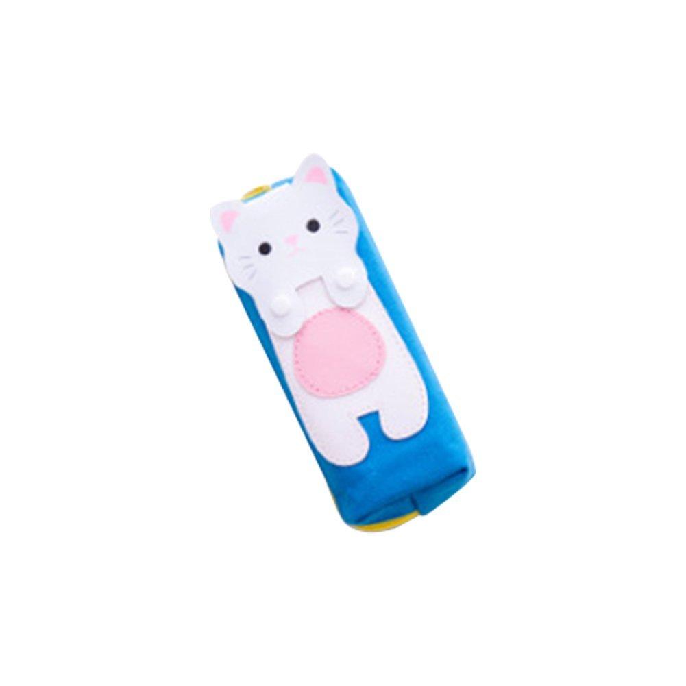 Premium Qualität Schöne Kreative Katze Muster Cartoon Leinwand Leinwand Leinwand Quadrat Stift Fall Tasche Große Kapazität Schreibwaren für Studenten Blau Weiß Ogquaton B07Q5FG4YF | Elegante Und Stabile Verpackung  12a265
