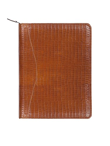 Scully 5014Z-0 Unisex Leather Zip Planner And Letter Pad, Brown - 61 (Leather Letter Scully)