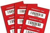 100 AlumiGuard asset tags,, Matte AlumiGuard® Metal Asset Tag, 100 Labels / Pack, 1.5'' x 0.75''