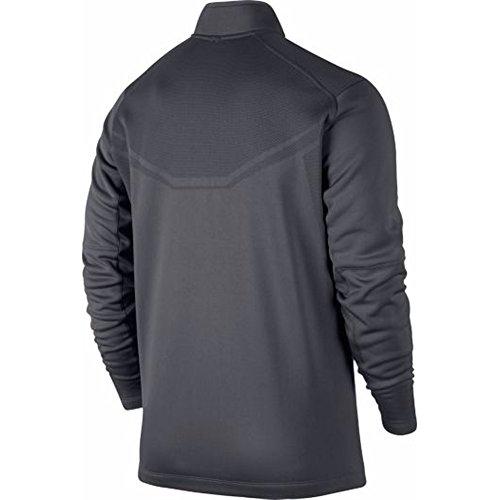 Nike Men's Hypervis Half-Zip Golf Sweater, Dark Grey/Black/Black/Metallic Silver, Medium