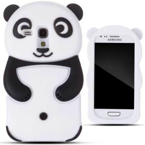Zooky® black silicone panda Case / Cover / Shell for Samsung Galaxy S3 MINI (I8190) (Galaxy Panda S3 Phone For Case)