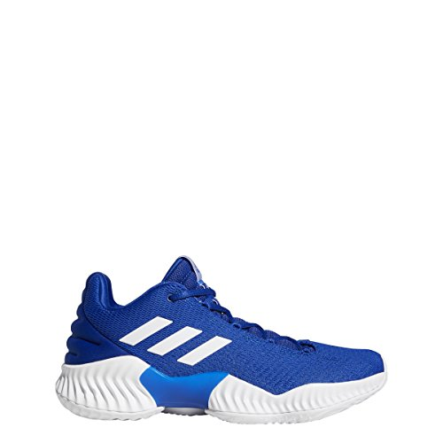 adidas Pro Bounce 2018 Low Shoe Men's Basketball 10 Collegiate Royal-White (Mens Lowcut Basketball Shoes)