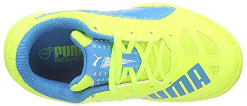 Chaussures Gelb 03 Jr Jaune Enfant Puma Blue Mixte Yellow atomic Indoor white De Evospeed safety 4 5 Football ITTwXUPq