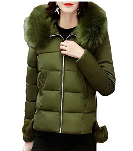Verde Donne Di Cappuccio La Giù Militare Delle Inverno Cotone Giacca Cappotti Sicurezza Trapuntato 1qqx4WwnP