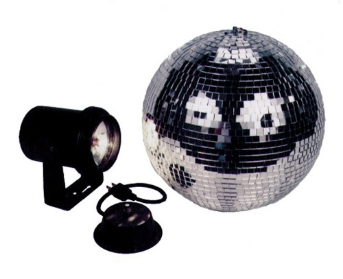 o 8 Inch Mirror Ball Kit With Battery Powered Motor (8 Inch Disco Ball)