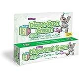 Diaper Rash Cream for Babies 40% Zinc Oxide with Aloe 6 Pack