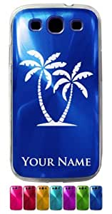Samsung Galaxy S3 Siii Case/Cover - TROPICAL PALM TREES - Personalized for FREE (Click the CONTACT SELLER button after purchase and send a message with your case color and engraving request) by lolosakes by lolosakes