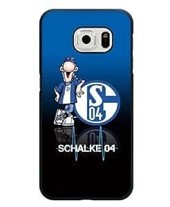 Bundesliga Schalke 04 Samsung Galaxy S6 Edge Fundas Case SCH Logo Colorful Hard Plastic Fundas Case for Samsung Galaxy S6 Edge