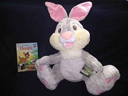 (Jumbo Large Disney Store Plush Thumper Bunny Rabbit From Movie Bambi 25'' Inches (Bottom to Top of Ears) New With Tags and Hardcover Book Walt Disney's)