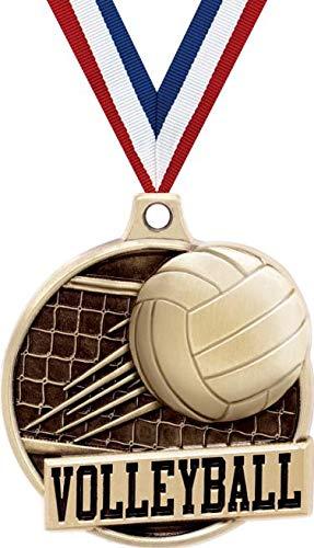 1.5インチ バレーボールメダル - ゴールド バレーボールネット チャレンジャー賞 メダル プライム B07GJYT99G  50