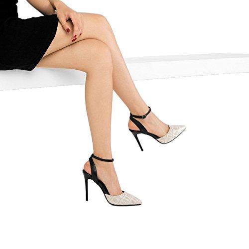 à Chaussures Beaux En Pointu Classique D'été Talons Bout Hauts Peau De Sandales Chaussures Du white Des Mariage Ladyies Femmes Soir De Mouton vTBcqS