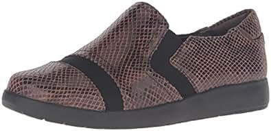 ROCKPORT Women's Devona Demsa Slip-on Loafer, New Taupe Shiny Python, 5 W (C)