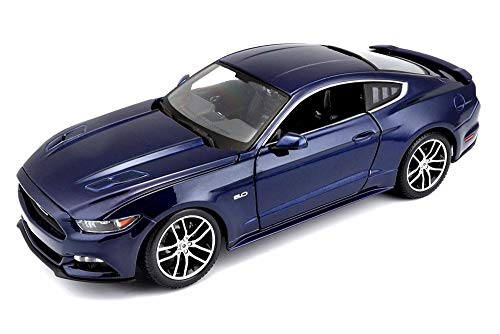 2015 Ford Mustang GT Hard Top, Dark Blue - Maisto 38133BU - 1/18 Scale Diecast Model Toy ()