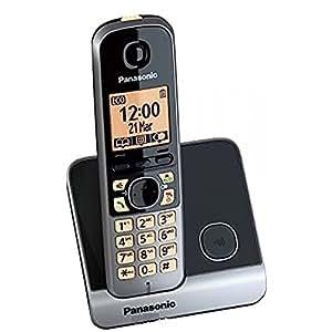 Panasonic KX-TG6711SPB - Teléfono DECT, color negro